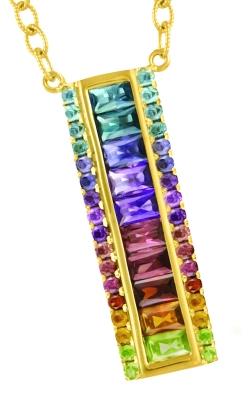 Bellarri Eternal Love 14K Rose Gold Multi-Color Pendant, Style P2117PG14M product image