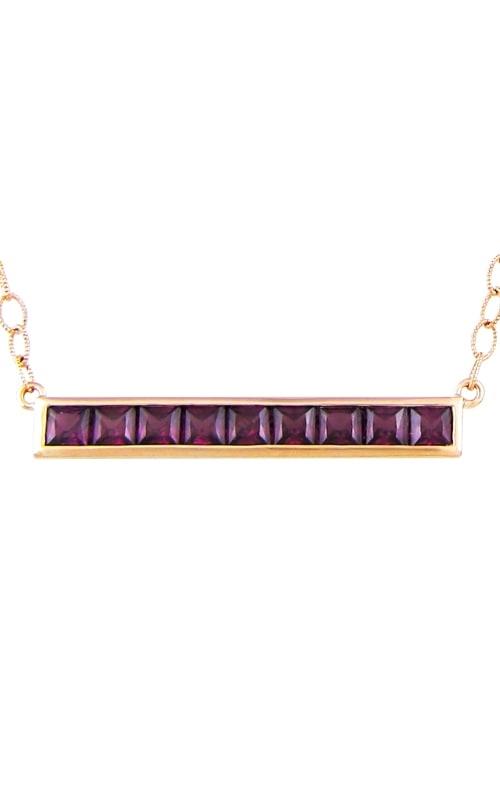 Eternal Love 14K Rose Gold Rhodolite Garnet Pendant product image