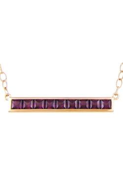 Bellarri Eternal Love 14K Rose Gold Rhodolite Garnet Pendant with Chain, Style P2124PG14RH product image