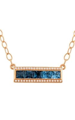 Bellarri Eternal Love 14K Rose Gold Diamond & Blue Topaz Pendant, Style# P2168PG14BT product image