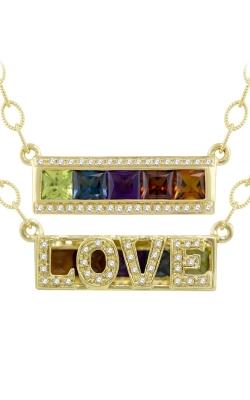 Bellarri Eternal Love 14K Yellow Gold Diamond & Multi-Color Love Pendant, Style P2179YG14M product image
