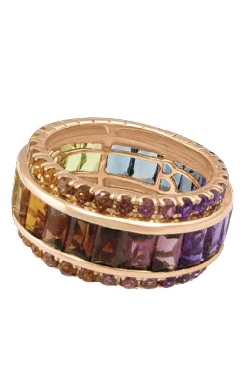 Eternal Love 14K Rose Gold Multi-Color Eternity Band product image