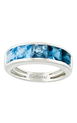 Bellarri Eternal Love 14K Diamond & Blue Topaz Ring, Style# R9018W14BT product image
