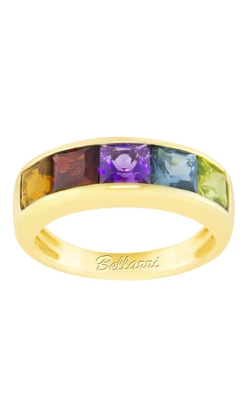 Eternal Love 14K Yellow Gold Multi-Color Band product image