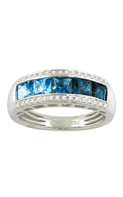 Bellarri Eternal Love 14K White Gold Diamond & Blue Topaz Ring, Style R9147W14BT product image