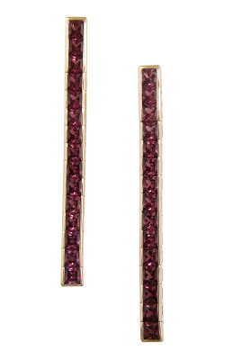 Bellarri Eternal Love 14K Rose Gold Rhodolite Stiletto Earrings, Style ER2296PG14R product image