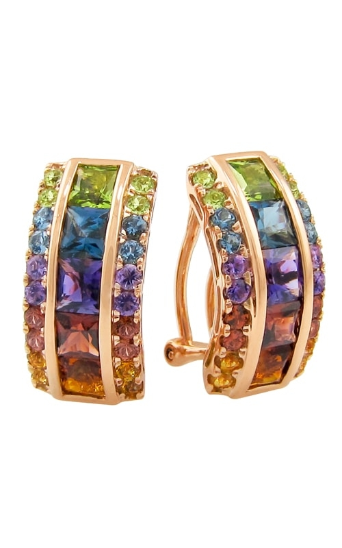 Eternal Love 14K Rose Gold Multi-Color Earrings product image