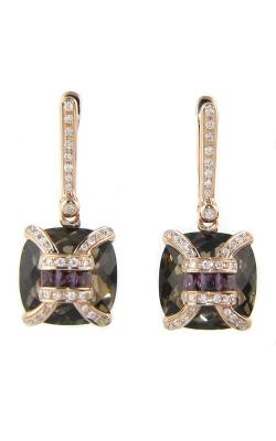 Bellarri Genevieve 18K Rose Gold Diamond, Smokey Quartz, & Rhodolite Earrings, Style ER2040PGSQRH product image