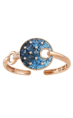 Bellarri Hava Nouveau 14K Rose Gold Diamond & Blue Topaz Bangle, Style B932PG14BT product image