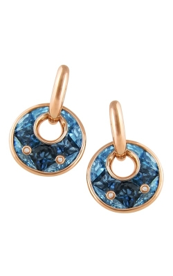 Bellarri Hava Nouveau 14K Rose Gold Diamond & Blue Topaz Earrings, Style ER2250PG14BT product image