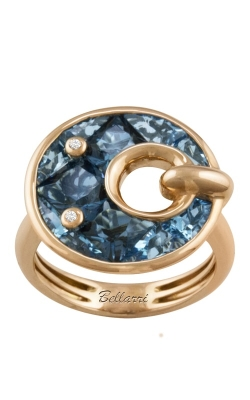 Bellarri Hava Nouveau 14K Rose Gold Diamond & Blue Topaz Ring, Style R9132PG14BT product image