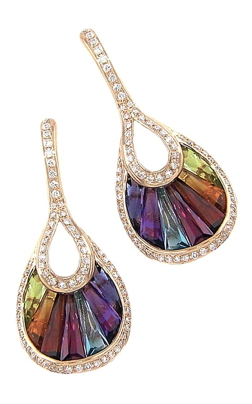 La Bouquet 14K Diamond & Multi-Color Earrings product image