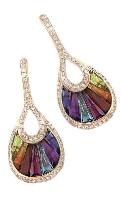 Bellarri La Bouquet 14K Rose Gold Diamond & Multi-Color Earrings, Style ER2074PG14M product image