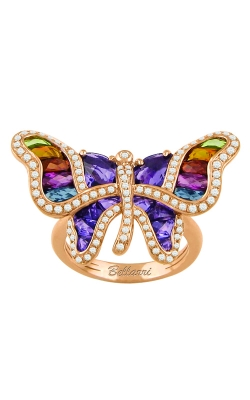 Bellarri Madame Butterfly 14K Rose Gold Diamond & Multi-Color Ring, Style R9161PG14AM product image