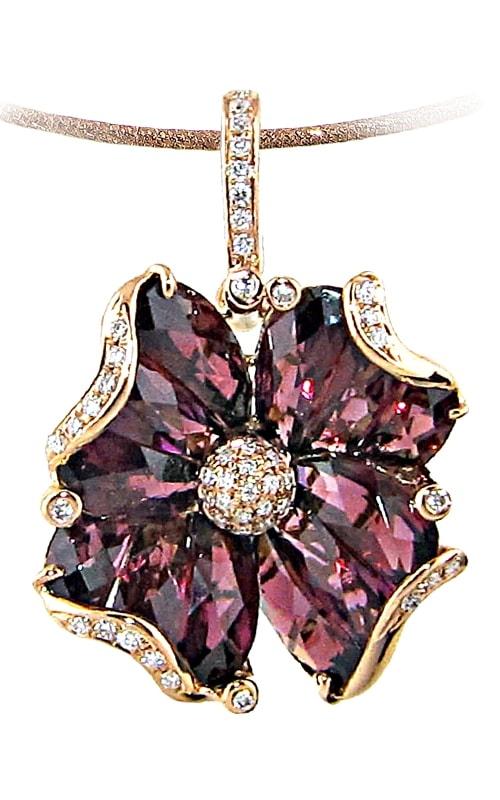 Madamoiselle 14K Diamond & Rhodolite Pendant product image