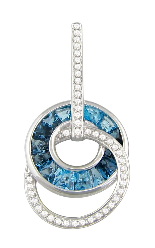 Malibu 14K Diamond & Blue Topaz Pendant product image