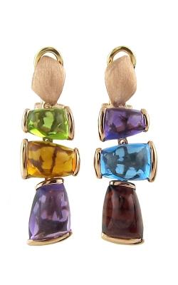 Bellarri Marquesa 14K Rose Gold Diamond & Multi-Color Earrings, Style ER2155PG14M product image