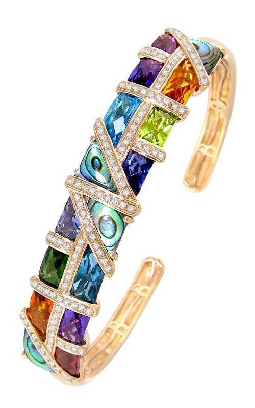 Mosaic Nouveau 14K Diamond & Multi-Color Bangle product image