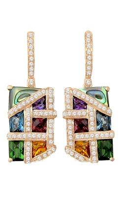 Bellarri Mosaic Nouveau 14K Rose Gold Diamond & Multi-Color Earrings, Style ER2228PG14MAB product image