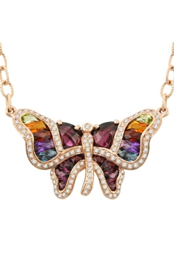 Madame Butterfly 14K Rose Gold Diamond & Multi-Color Necklace, Style P2149PG14RHM product image