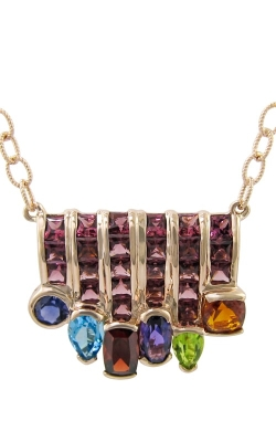 Cove 14K Rose Gold Rhodolite & Multi-Color Necklace, Style P2254PG14MRH product image