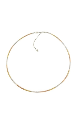 "14K Tricolor & White Gold Reversible 15"" Necklace, Style P739TCW14-15 product image"