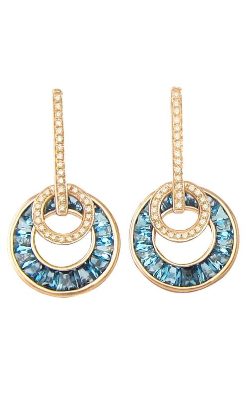 Poetry in Motion 14K Diamond & Blue Topaz Earrings product image