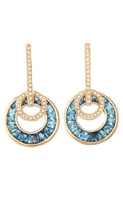 Bellarri Poetry In Motion 14K Rose Gold Diamond & Blue Topaz Earrings, Style ER2233PG14BT product image