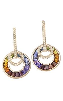 Bellarri Poetry In Motion 14K Rose Gold Diamond & Multi-Color Earrings, Style ER2233PG14M product image