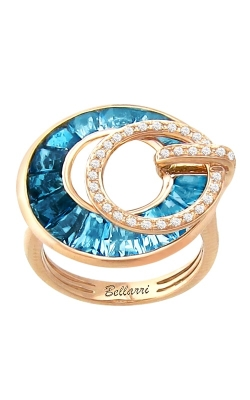 Bellarri Poetry In Motion 14K Rose Gold Diamond, Swiss Blue, & London Blue Topaz Ring, Style R9111PG14BT product image