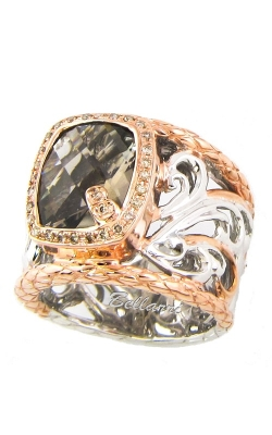 Bellarri Silver Pretty Woman Two-Tone Diamond & Smoky Quartz Ring, Style# RS954TTSQ product image