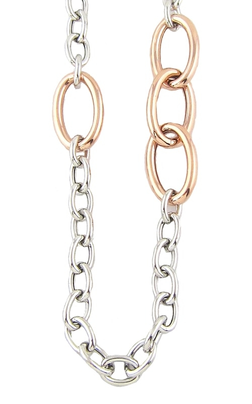 Silver Two-Tone 18 Inch Large Loop Chain product image