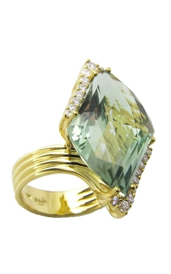 Bellarri Legacy 18K Yellow Gold Diamond & Prasiolite Ring, Style# R8850PA product image