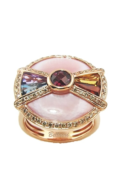 14K Rose Diamond, Pink Mother-of-Pearl, & Multi-Color Ring product image