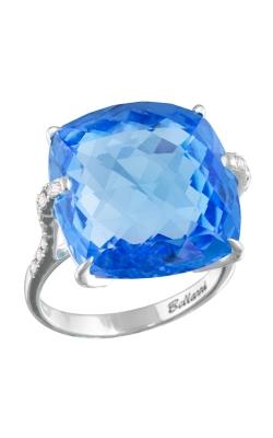 Legacy 18K White Gold Diamond & Swiss Blue Topaz Ring, Style R9107WBT product image