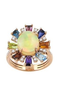 Athena 14K Rose Gold Diamond, Multicolor Gemstone, & Opal Ring, Style R9211PG14OM product image