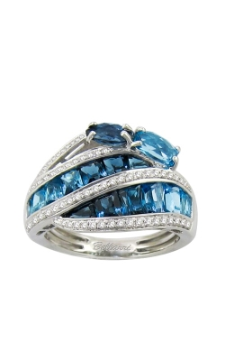 Capri 14K White Gold Diamond & Blue Topaz Ring, Style R9254W14BT product image