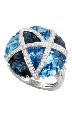 Fresco 14K White Gold Diamond & Blue Topaz Ring, Style R9325W14BT product image