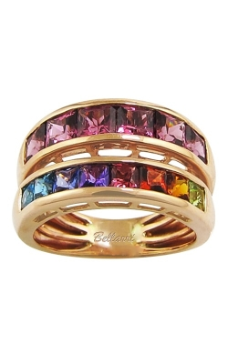 Eternal Love 14K Rose Gold Rhodolite & Multicolor Gemstone Ring, Style R9343PG14RHM product image