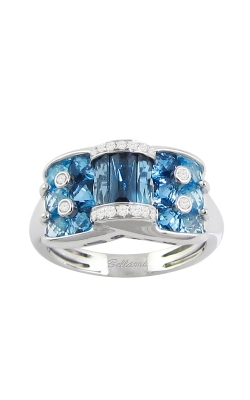 Fresco 14K White Gold Diamond & Blue Topaz Ring, Style R9354W14BT product image