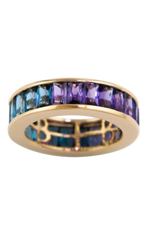 Eternal Love 14K Amethyst, Iolite, & Blue Topaz Eternity Ring product image