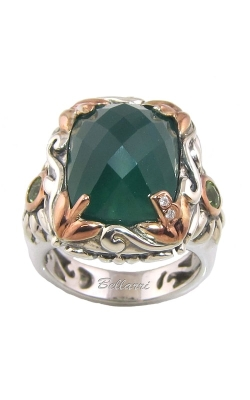 Bellarri Rendezvous Silver, Diamond, Green Onyx, & Peridot Ring, Style RS891TTGOX product image