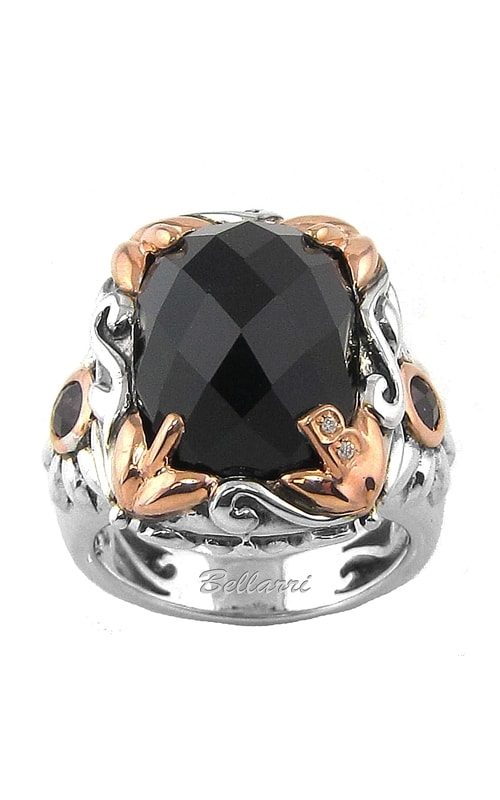 Rendezvous at Midnight Diamond, Onyx, & Rhodolite Ring product image