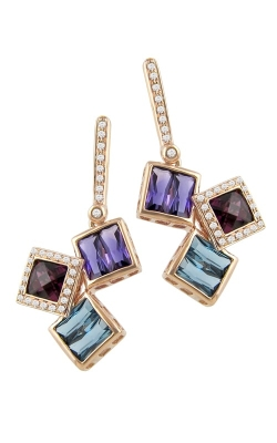 Bellarri Rhapsody 14K Rose Gold Diamond & Multi-Color Earrings, Style# ER2261PG14M product image