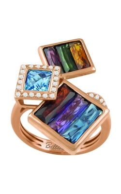 Bellarri Rhapsody 14K Rose Gold Diamond & Multi-Color Ring, Style R9140PG14MM product image