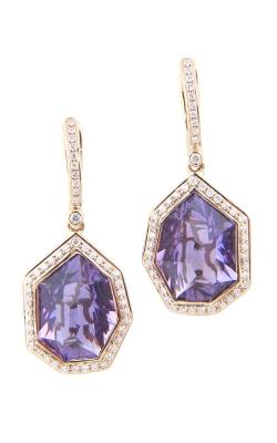 Bellarri Tuscany 18K Rose Gold Diamond & Amethyst Earrings, Style ER2080PGA product image