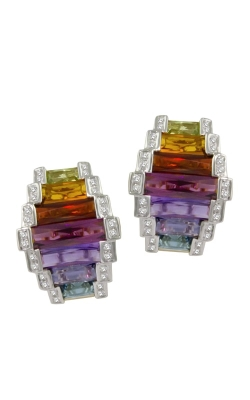 Bellarri Ultimate Color 18K Yellow Gold Diamond & Multi-Color Earrings, Style ER1220M product image
