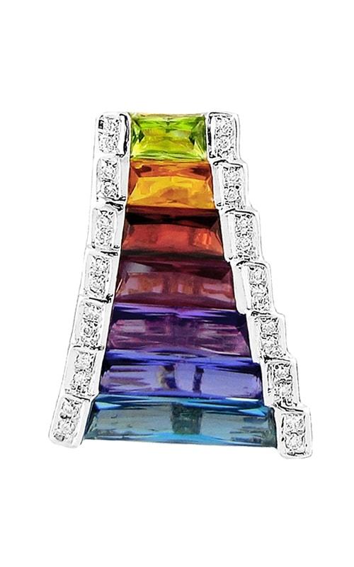 Ultimate Color 14K Diamond & Multi-Color Pendant product image