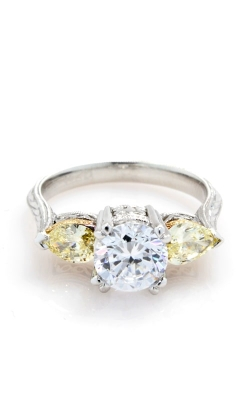 Tacori Hand Engraved Fancy Yellow Diamond Engagement Ring HT2247 product image