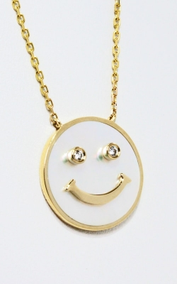 Frederic Sage 14K Yellow Gold Happy Face Pendant with Chain, Style P3143W-4-YWM product image